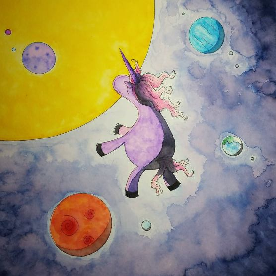 Unicorn in Space